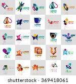 collection of colorful abstract ... | Shutterstock .eps vector #369418061