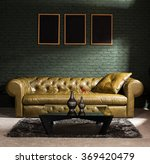 brown furniture and concrete... | Shutterstock . vector #369420479
