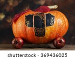 Close Up Of A Pumpkin Carriage...