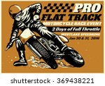 Flat Track Motorcycle Race...