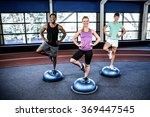 fit people doing exercise with... | Shutterstock . vector #369447545