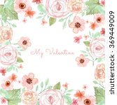 flower wedding invitation card  ... | Shutterstock . vector #369449009