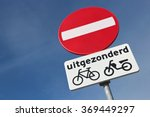 dutch road sign  no entry ...   Shutterstock . vector #369449297