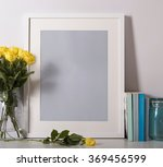Picture Frame On Desk With...