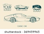 european classic sports car... | Shutterstock .eps vector #369459965