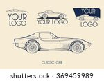 american classic sports car...   Shutterstock .eps vector #369459989