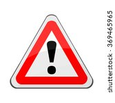 triangle traffic sign for... | Shutterstock .eps vector #369465965