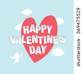 happy valentine's day greeting... | Shutterstock .eps vector #369475529