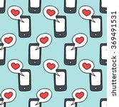seamless doodle pattern.... | Shutterstock .eps vector #369491531