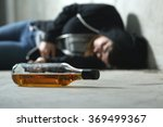 drunk teenager on the floor in... | Shutterstock . vector #369499367