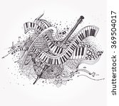 vector zentangle stylized... | Shutterstock .eps vector #369504017