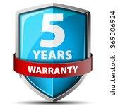 5 years warranty   Shutterstock .eps vector #369506924