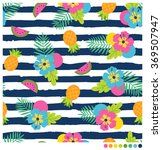 colorful  summer seamless... | Shutterstock .eps vector #369507947