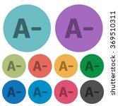 color decrease font size flat...