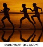 blur silhouette of three women... | Shutterstock . vector #369532091