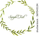 vector round wreath with... | Shutterstock .eps vector #369543134