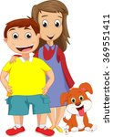 boy and sister standing... | Shutterstock .eps vector #369551411