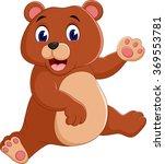 illustration of cute bear... | Shutterstock . vector #369553781