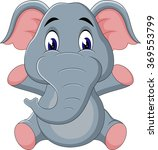 illustration of cute elephant... | Shutterstock . vector #369553799