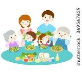 family love eating fresh... | Shutterstock .eps vector #369567629