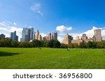 manhattan skyline from the... | Shutterstock . vector #36956800