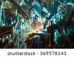 team welding robots represent... | Shutterstock . vector #369578141