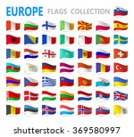 european flags   vector... | Shutterstock .eps vector #369580997