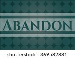 abandon vintage style card or... | Shutterstock .eps vector #369582881