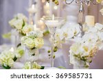 beautiful table set with... | Shutterstock . vector #369585731