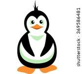 family of penguins. vector... | Shutterstock .eps vector #369586481