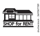 Shop For Rent Icon Illustratio...