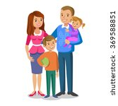 happy family portrait  smiling... | Shutterstock .eps vector #369588851