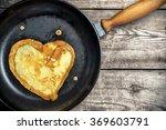 fried pancakes   heart on a...   Shutterstock . vector #369603791