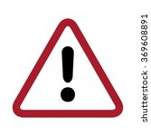 exclamation danger sign | Shutterstock .eps vector #369608891
