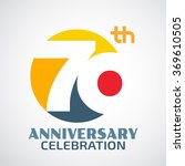 template logo 70th anniversary... | Shutterstock .eps vector #369610505