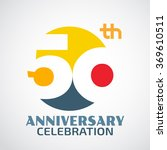 template logo 50th anniversary... | Shutterstock .eps vector #369610511