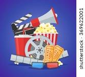 cinema movie poster design... | Shutterstock .eps vector #369622001
