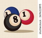 casino number ball theme... | Shutterstock .eps vector #369622895