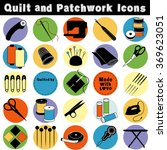 quilt tools for sewing ... | Shutterstock .eps vector #369623051