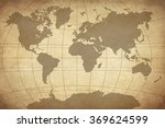 map on old paper  | Shutterstock . vector #369624599