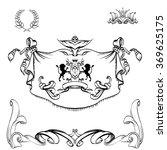 decorative elements in vintage... | Shutterstock .eps vector #369625175