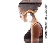 double exposure portrait of... | Shutterstock . vector #369632009