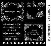 set of vintage st. patrick s... | Shutterstock .eps vector #369638741