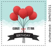 happy birthday text box  color... | Shutterstock .eps vector #369651011