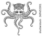 drawing octopus zentangle... | Shutterstock .eps vector #369652301