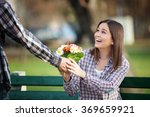 Young Woman Receiving A Bunch...