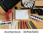 camera and graphic tablet | Shutterstock . vector #369665681