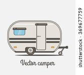 camper. vector illustration | Shutterstock .eps vector #369677759