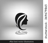 woman head icon | Shutterstock .eps vector #369679865