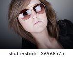 shot of a stunning brunette... | Shutterstock . vector #36968575